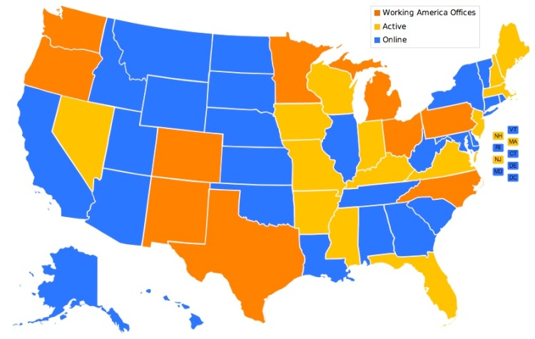 working america map