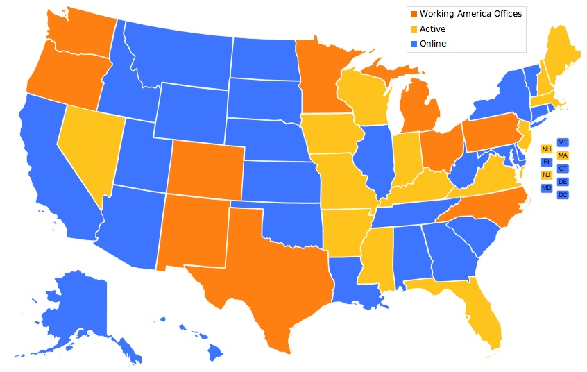 working america map