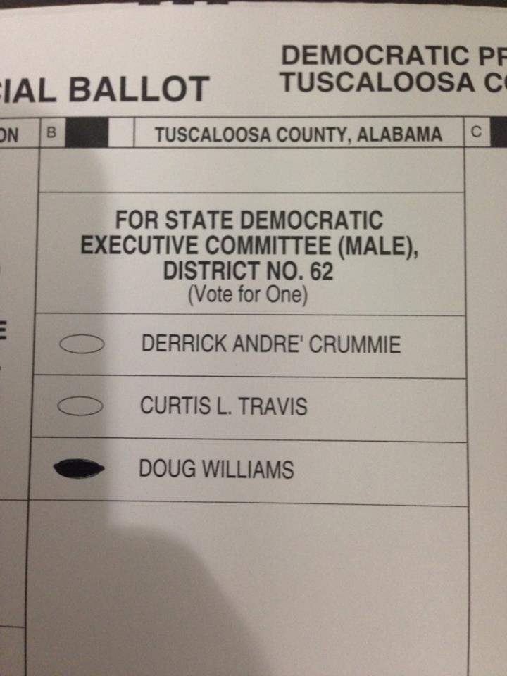 My first ballot. I voted correctly, I think.
