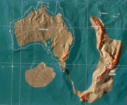 uture map of Australia and New Zealand by Gordon Scallion